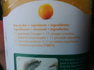 Innocent Orange Juice Ingredients
